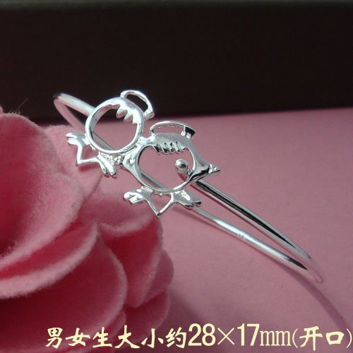 Free Shipping Wholesale 925 Silver Gorgeous Delicated Lovely Angel Baby Bangle B210106