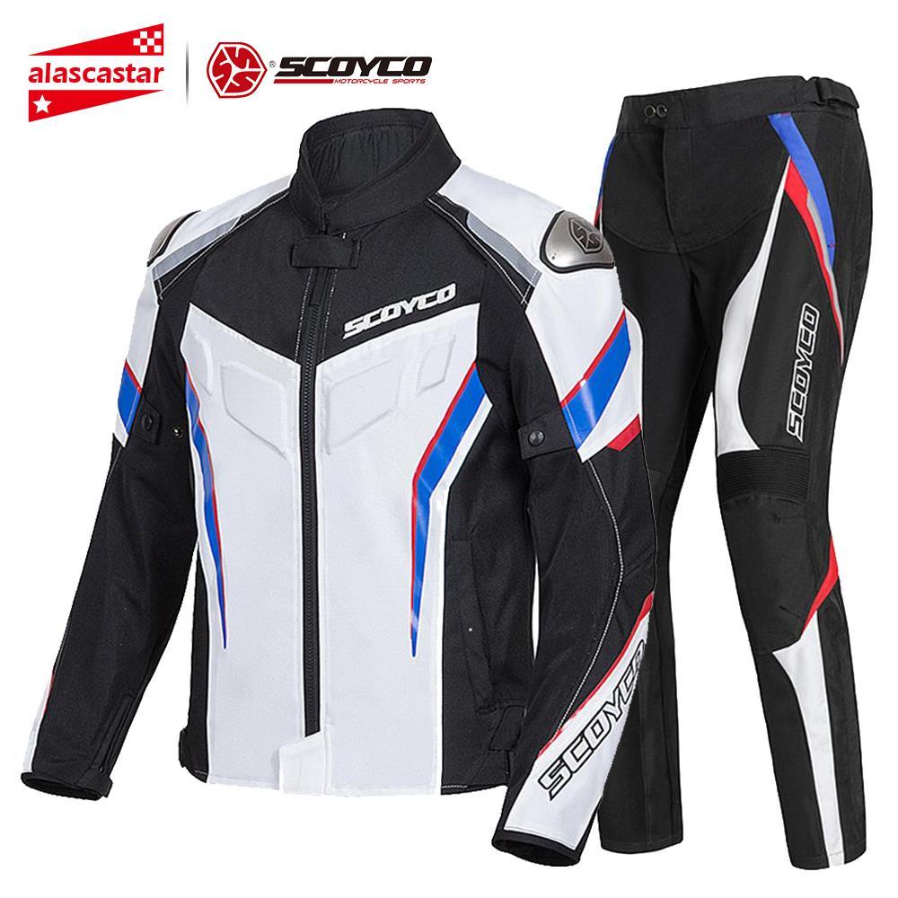 SCOYCO Motorcycle Jacket Protective Gear Reflective Summer Motocross Breathable Chaqueta Moto Jacket Motorcycle Protection