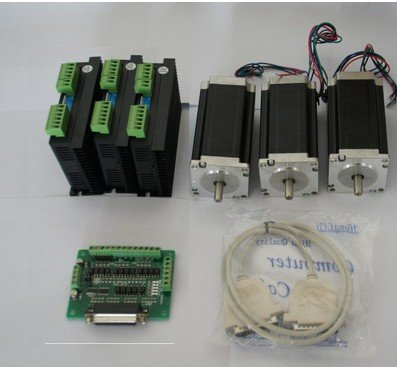 цена на Nema 23 Stepper Motor 425oz-in 3Axis CNC Driver with 4.2A ,50VDC, 128 Microstep Mill
