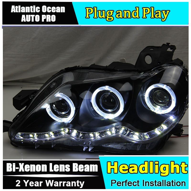 Фото Car Styling New For Toyota Reiz Mark X headlights 2009-2012 Mark X led headlight head lamp led drl HID KIT Bi-Xenon Lens low bea