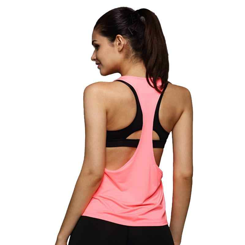 Summer Sexy Workout Tops For Women Fitness Female academia Tank Top Quick Dry Loose Sleeveless Vest Singlet For Exercise T-shirt