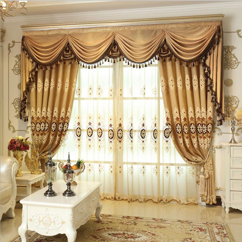 Aliexpress  Buy Helen Curtain Set Luxury European Style - luxury curtains for living room