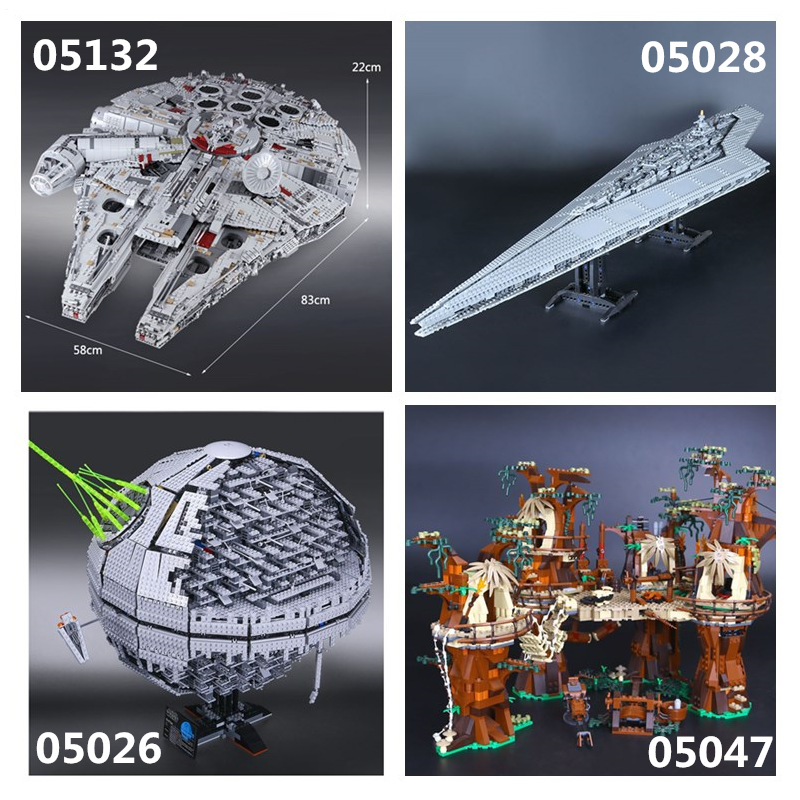 IN STOCK Star Plan 05132 05026  05027 05028 05035 05043 05047 05063 05077Building Block Toys 75192 10143 10221 10236 10030 75252