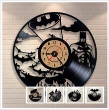 Batman Batman 3D Clock Watch Vinyl Record Clock Wall Clock Hanging Clock Home Decoration