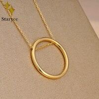Genunine 18 К Au750 розового золота простой круг минималистский Eternity Fine Jewelry Подвески Цепочки и ожерелья для Для женщин/Для мужчин подарок прямая по
