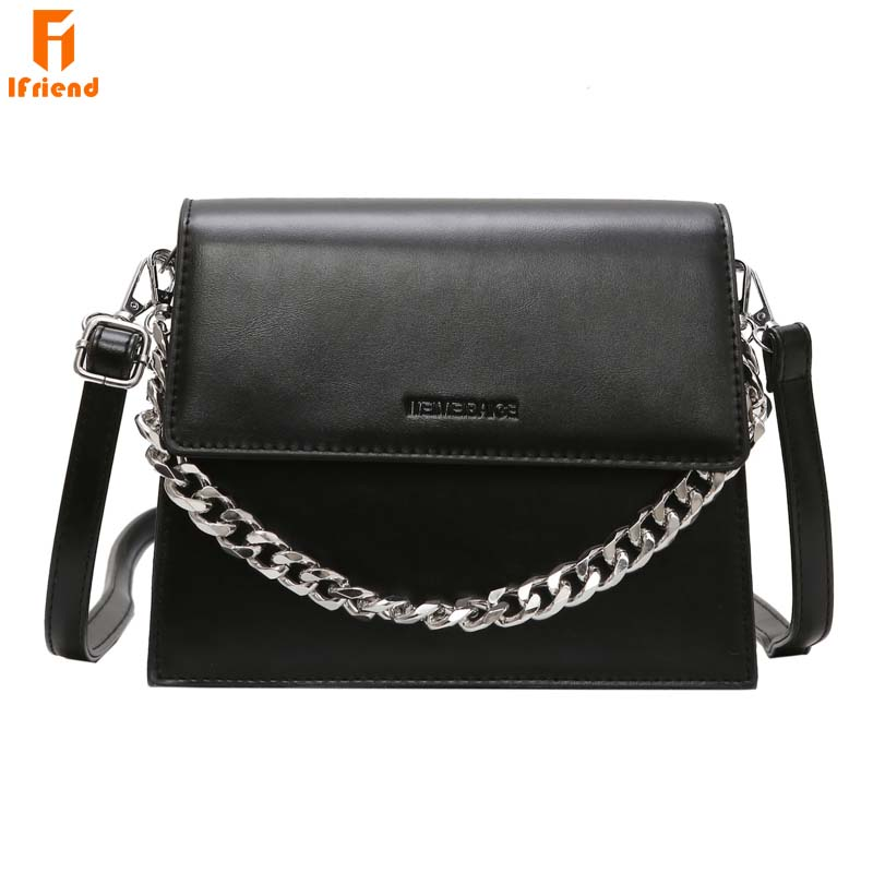 Ifriend New Arrival Trendy Small Square Shoulder Bag Women s Chain Strap Messenger Crossbody Bag Fashion