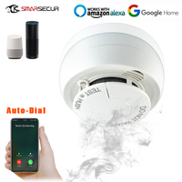 Wi Fi Wifi Smoke Detector Fire Alarm Smoke Sensor Highly Sensitive Fire Alarm system For Smart Life App Control