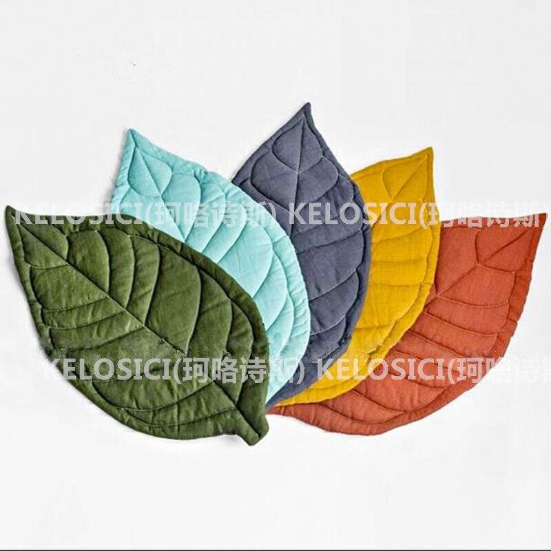 Nordique Ins feuilles forme tapis enfants jouer tapis ramper bébé couverture enfants chambre décor tapis pour salon chambre tapis
