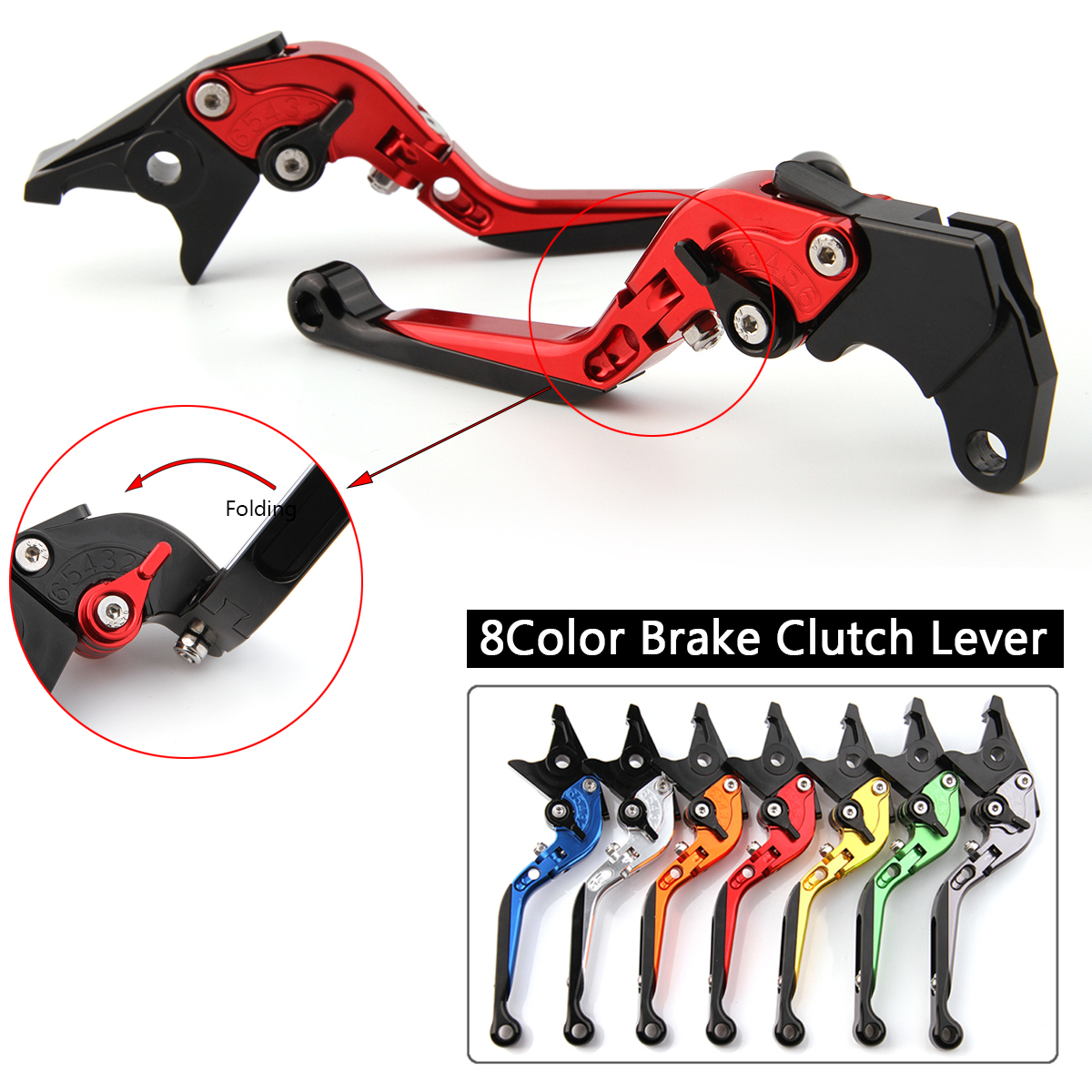 CNC Levers for <font><b>Honda</b></font> CBR900RR CB599 CB600 <font><b>Hornet</b></font> CBR600 CB919 NC700 Motorcycle Adjustable Folding Extendable Brake Clutch Levers image