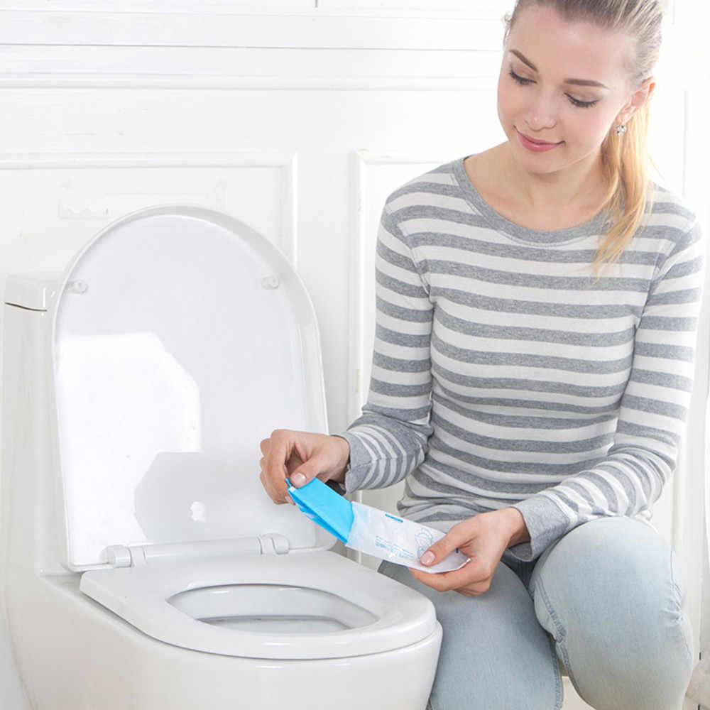 Uniwersalna toaleta jednorazowa nakładka na toaletę Mat 100% wodoodporna papierowa podkładka na toaletę do podróży/Camping akcesoria łazienkowe # F