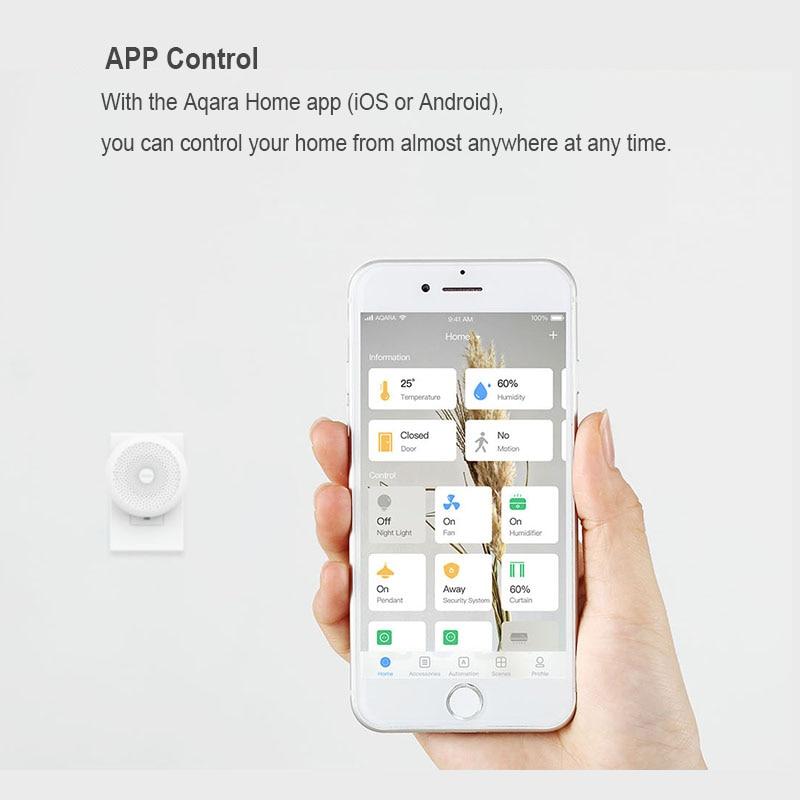 Image 4 - Original Xiaomi Mijia Aqara Hub , Mi Hub  with RGB Led night light Smart work with For Apple Homekit and aqara smart App-in Smart Remote Control from Consumer Electronics