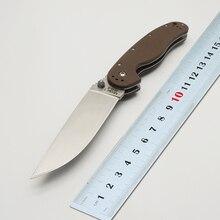 BMT Tactical RAT Model 1 Folding Blade Knife  AUS-8 Blade G10 Handle Knife Hunt Camping Hunting Survival Knife Outdoor EDC Tools