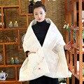 Женщины Зимнее Пальто Мори Девушка Теплый Верхняя Одежда Теплый Пуховик Китайский Стиль Повседневная Шаль Ручной росписью Plum