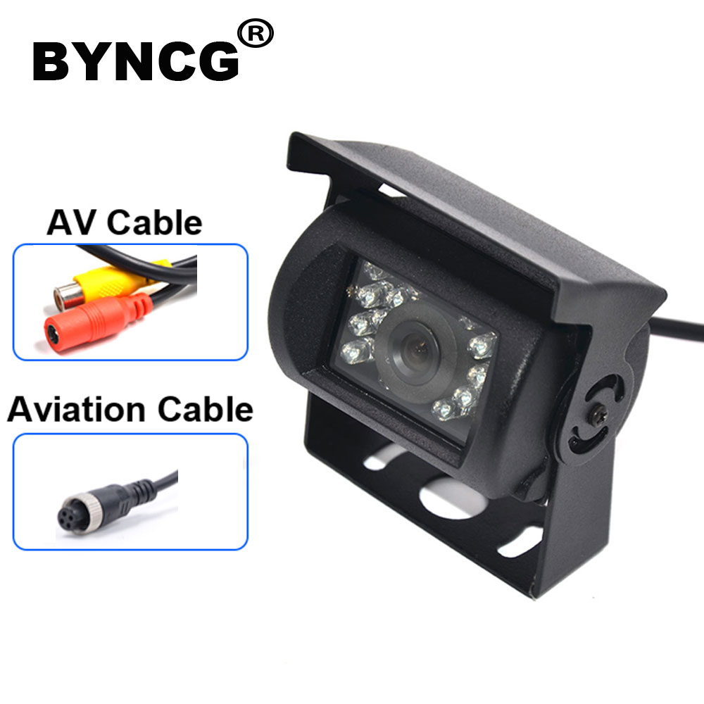 BYNCG Truck Backup Camera Heavy Duty 18 LED IR Night Vision Waterproof Vehicle Rear View Camera For Truck/Trailer/Pickups/RV