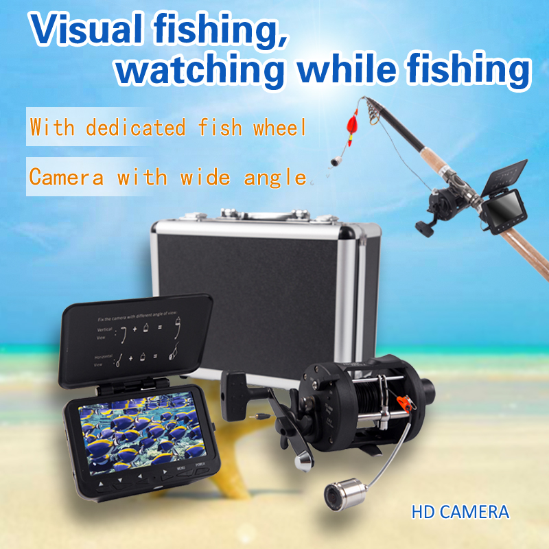 SYANSPAN Fish Finder 4.3 LCD Monitor 20M HD 1000TVL Underwater Ice Fishing Video Camera Waterproof Fishfinder With Carry Case цена
