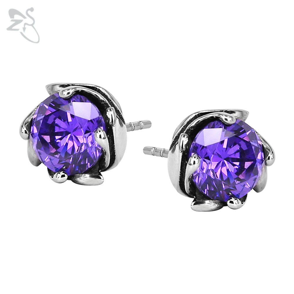 collette z purple drop shipping oval jewelry cubic on overstock silver earrings over watches orders free product sterling zirconia