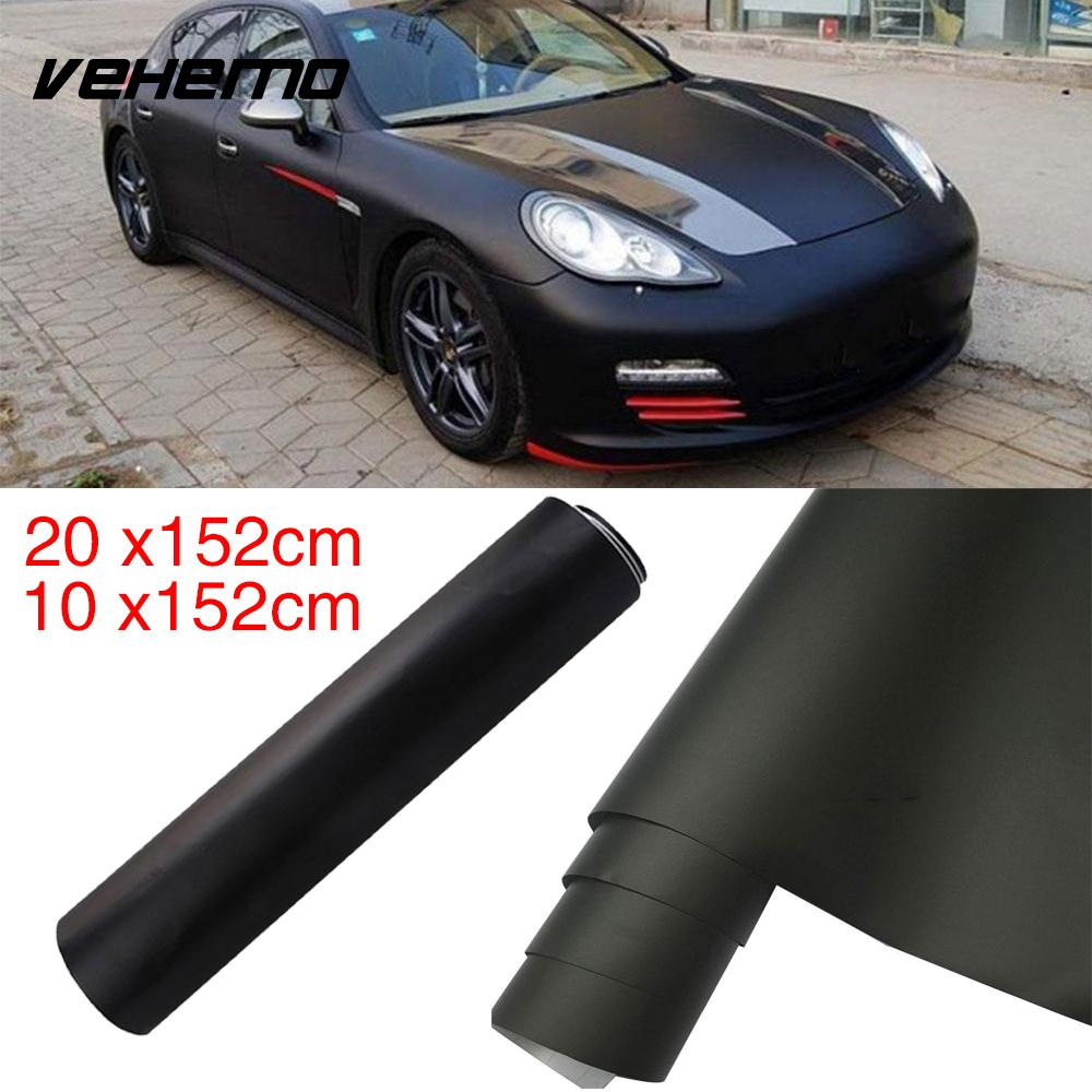 Decal Wrapping DIY Sheet Car Exterior Car Styling PVC 10x152CM Bubble-Free Car Sticker Matter Black Self-Adhesive Body Film
