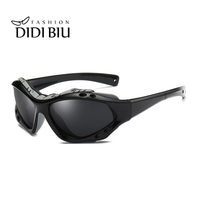 a52024f076 DIDI Polarized Sunglasses Men Brand Plastic Frame Windproof Sun Glasses  Mens Driving Goggles Black Coating Oculos Hombre HN899