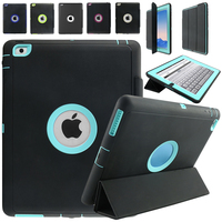 For IPad Mini 4 Retina Kids Safe Armor Shockproof Heavy Duty Silicone Hard Case Cover W