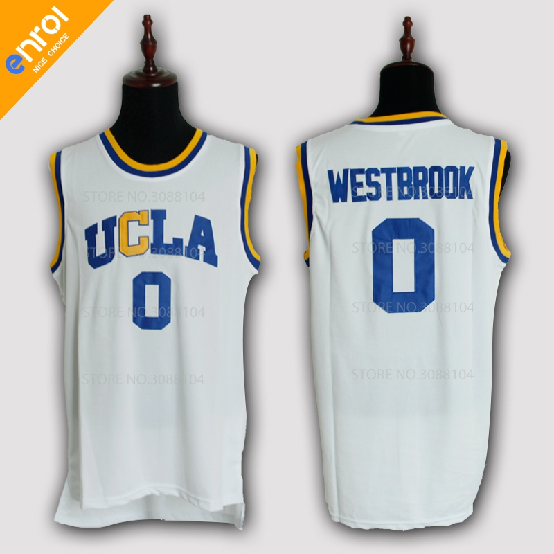 Cheap Russell Westbrook Basketball Jersey 0# UCLA Bruins College Retro Uniforms 3 Colors Stitched Embroidery High Quality Shirt ...