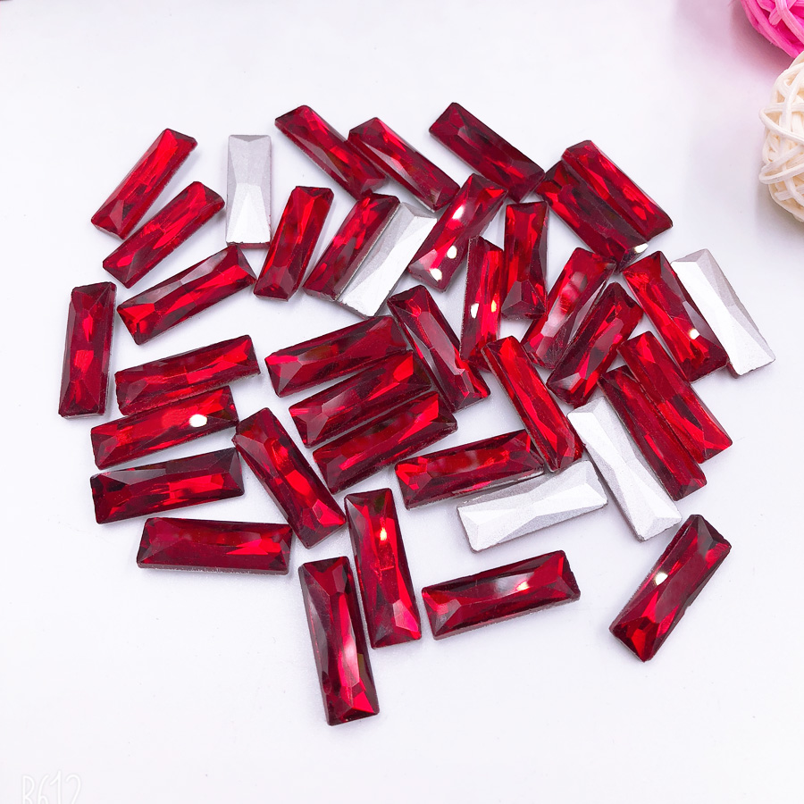 30pcs Red Siam Sew on Rhinestone Tape Sewing Strass Crystal Point back Rhinestones Glass Stone Accessories for Clothes Bags