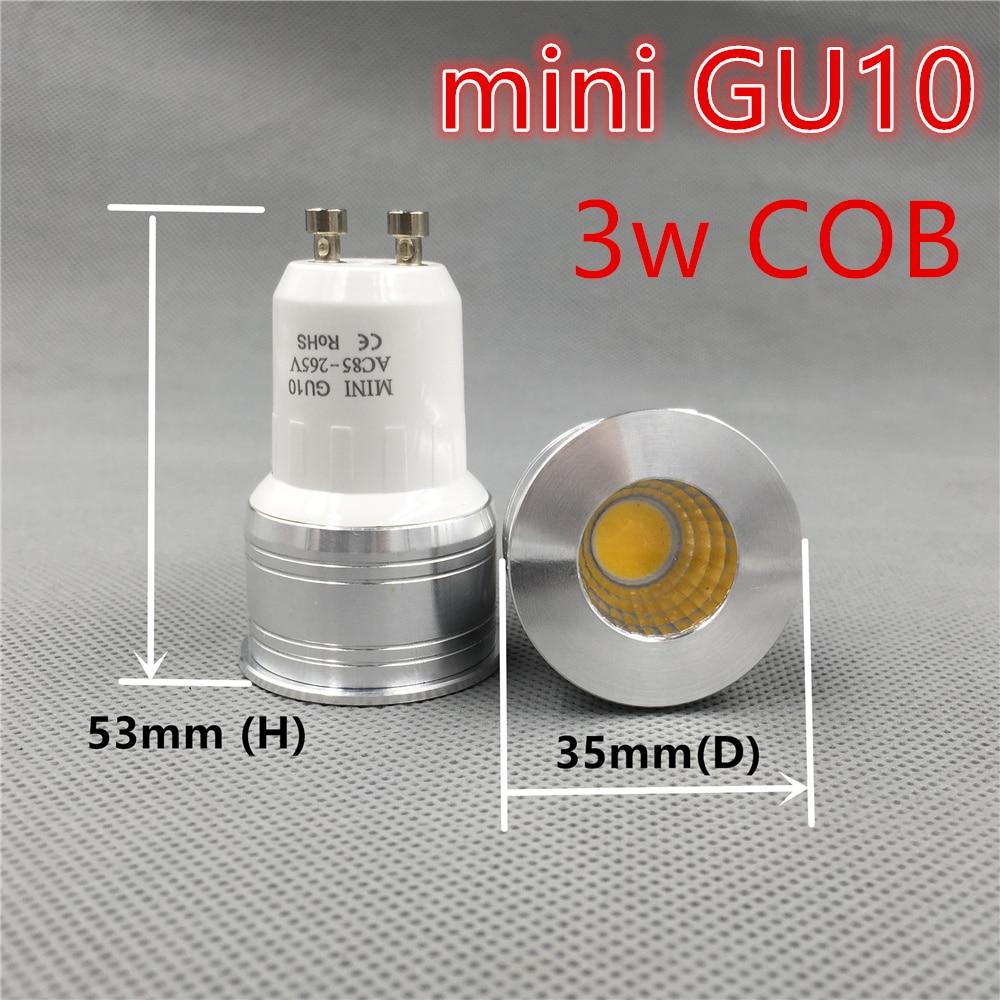 led bulb mini gu10 35mm spotlight 3w dimmable 110v 220v 240v 12v mr16 mr11 spot angle for living room bedroom table lamp small