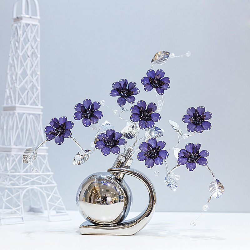 Nordic Creative Artificial Acrylic Crystal Flower vase for home decor craft room wedding decoration ornaments