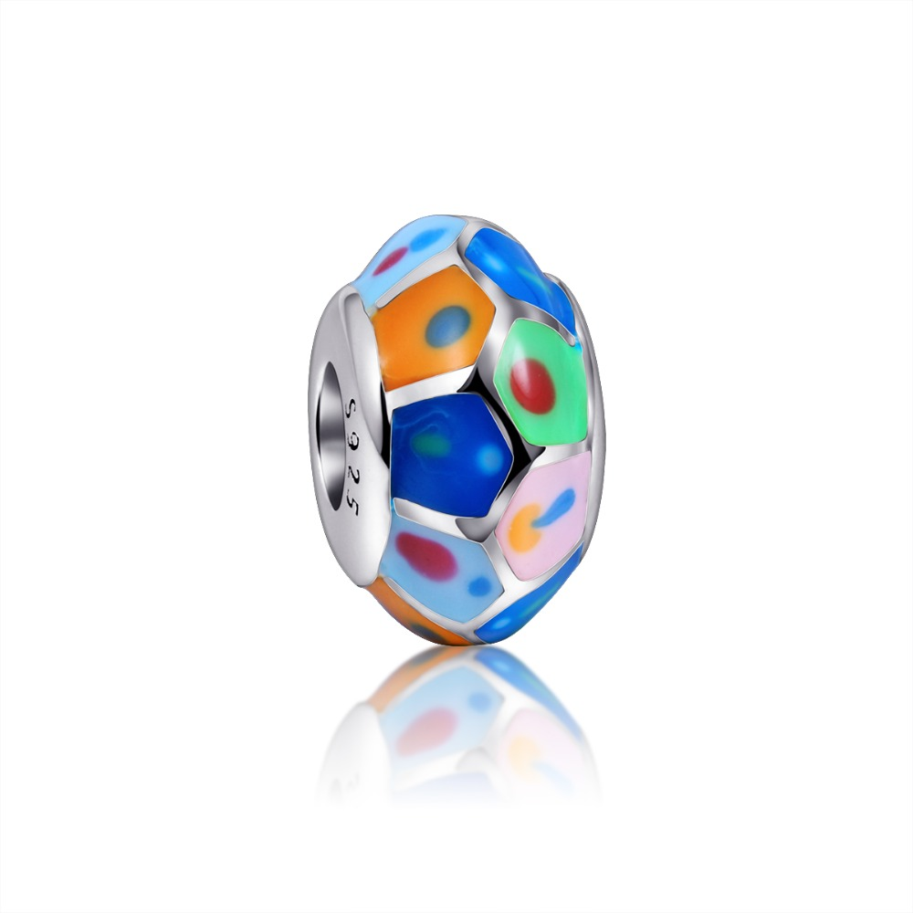 Hot Sale 925 Sterling Silver Charms Beads with Beautiful Colour Polishing Enamel Fit Original pandora Charms Bracelets Jewelry