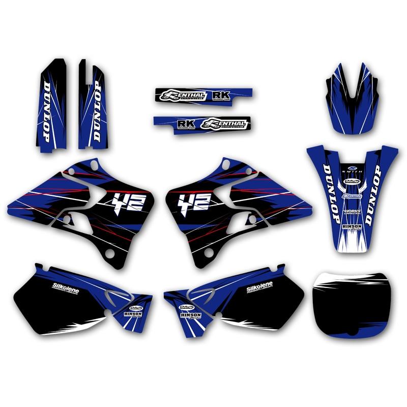 Graphic Background Sticker Decal for Yamaha YZ125 YZ250 YZ 125 250 1996 1997 1998 1999 2000 2001 Dirt Bike Stickers Hot sale