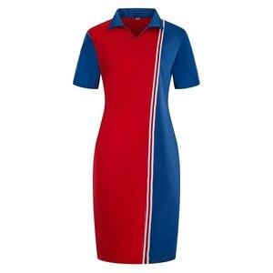 Новинка 2020, дизайнерское Макси-платье-поло размером 6XL, женское летнее платье-футболка большого размера, Повседневное платье-поло в стиле пэ...