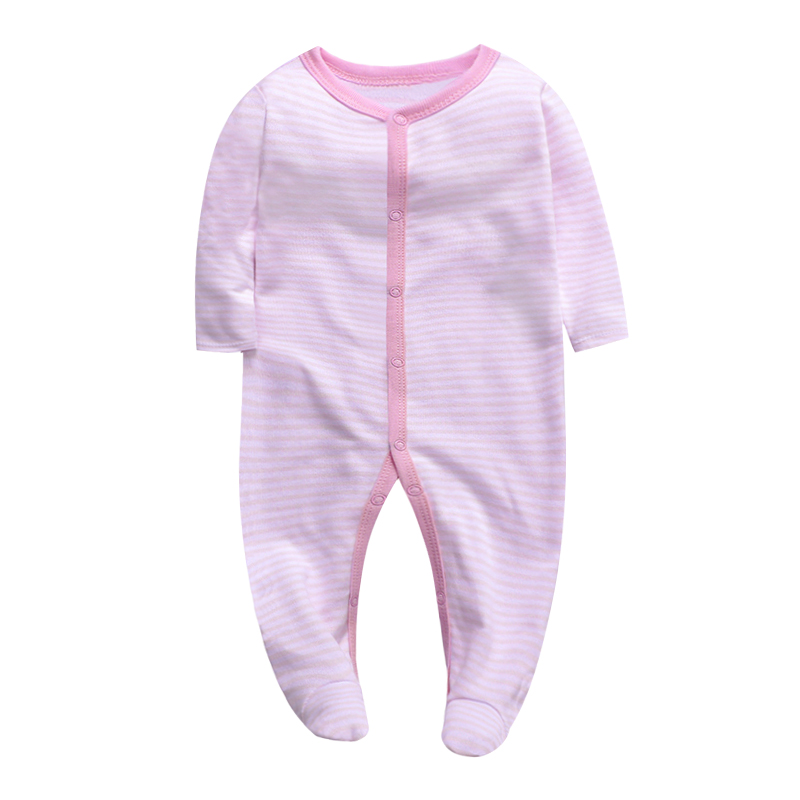 Newborn Baby Clothes Babies Girls Footed Pajamas Long Sleeve 3 6 9 12 Months Baby Clothing