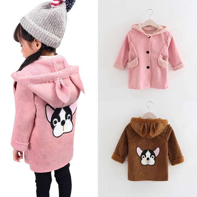 a880c07db MUQGEW Children Bunny Jacket Winter Warm Girl Rabbit Autumn Cute ...