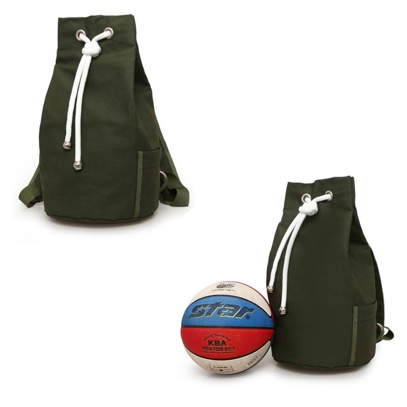 Drawstring Canvas Bucket Bags Backpacks Sports font b Football b font Basketball Storage Outdoors Cycling Bags