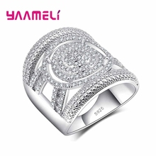 Unisex Fashion Cool925 Sterling Silver Wide Finger Engagement Rings for Men Women Wedding Couple Rings Jewelry