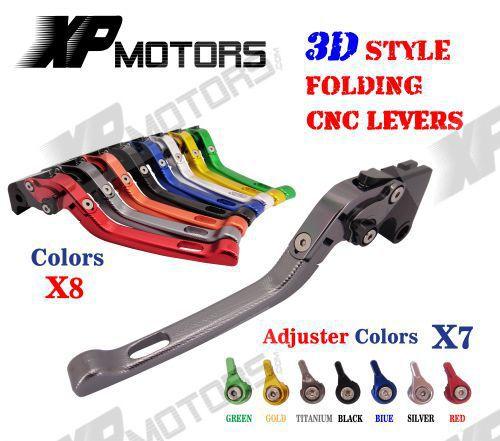 CNC 3D Feel Folding Adjustable Brake Clutch Lever For Buell Ulysses XB12XT XB12X 2009 XB12 2004-2008 XB9 All Models 2003-2009 adjustable billet extendable folding brake clutch levers for buell ulysses xb12x 1200 05 2009 xb12xt xb 12 1200 04 08 05 06 07