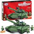 Winner 8101 Tank T-90A Main Battle Tanks Battle Military Building Brick Block Educational Boy Toys With legoe