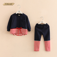 Striped Toddler Girl Clothing New Arrival Girls Clothing Sets O Neck Pullover Kids Tops And Pants