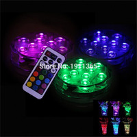 4pcs New Product LED Submersible Candle Floral Tea Light Candle Flashing Waterproof Wedding Party Decoration Hookah