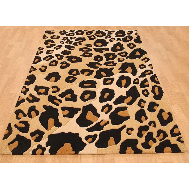 High Quality Large 140X200cm Living Room Thickened Handmade Acrylic Carpet Leopard Mat  For Bedroom Coffee Table Area Rug