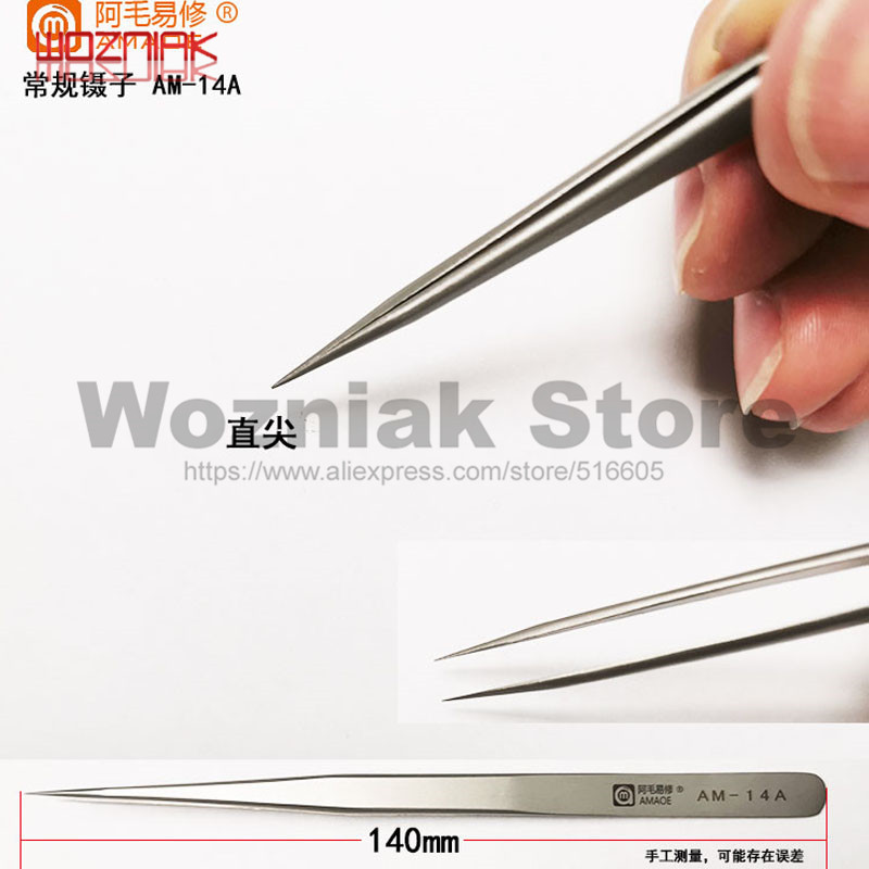 WOZNIAK Strong Clamping Tweezers For IPHONE Mobile Phone Maintenance Motherboard Fly Line BGA Pliers