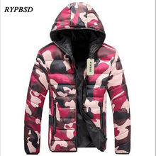 2017 Autumn Winter New Men Jacket and Coats Warm Thick Slim Fit Casual Cotton-Padded Army Military Camouflage Hooded Parkas Men
