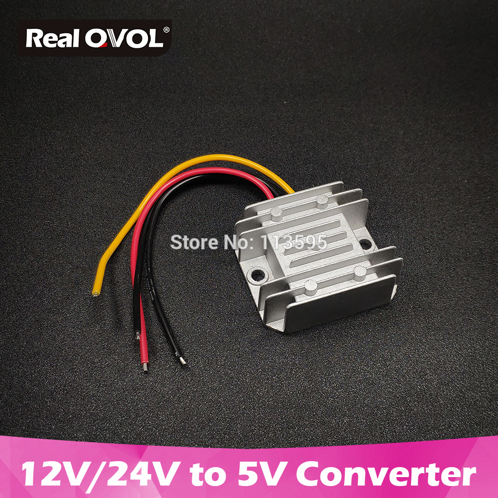 RealQvol 12V/24V To 5V Demo Board Is Applicable 10A DC Converter Step Down 50W 1A 3A 5A 6A 8A Type CE Certificated