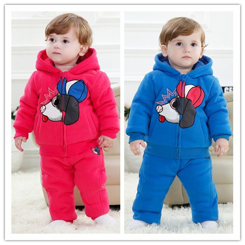 Autumn Winter Baby Clothes Boy Clothes Cartoon Girl Set Clothing,Free shipping