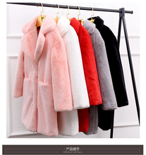 Women Winter Warm Outwear Artificial Faux Fur Coat Long Casual Soft Imitation Fur Overcoat Outwear Clothes White Black Red Pink