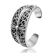 Fashion jewelry titanium steel bracelet,Fashion cross titanium bracelet, refined classic vintage pattern.Titanium  bangles