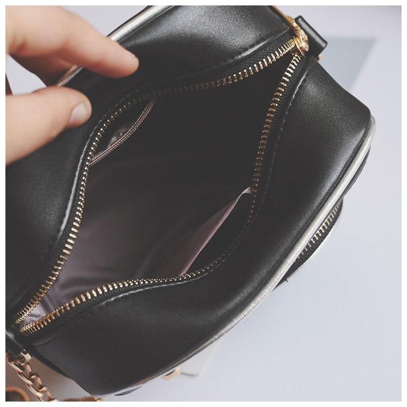 Kamera Cartoon Printing Women Bag Mode Små Sequined Kedjor - Handväskor - Foto 4
