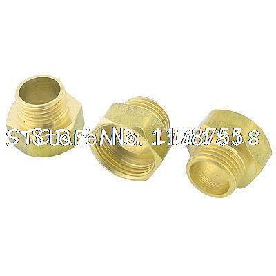 3 Pcs 1/2 PT Male to 3/4 PT Female Straight Pipe Coupler Fitting Connector hex bushing 1 2 pt female threaded straight oil air pipe connector