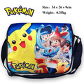 Colorful Pocket Monster/Pokemon polyester shoulder bag printed w/ Pikachu Type D