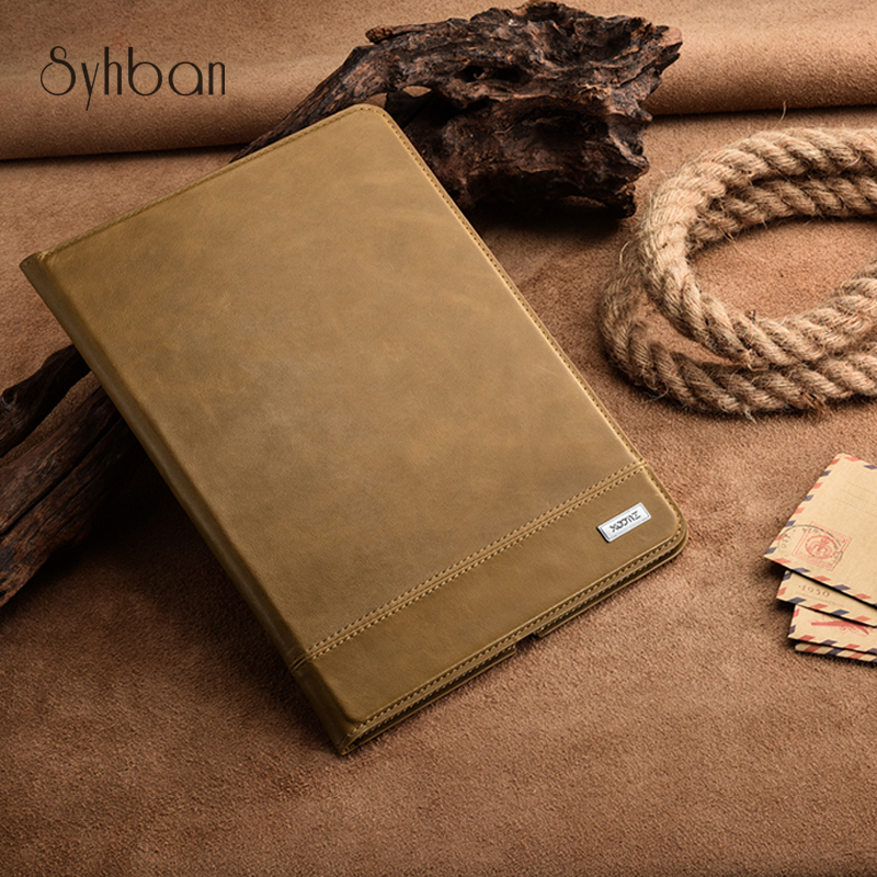 XOOMZ 100% New Luxury Vintage First Layer Genuine Leather Case For iPad Air 2 Stand 9.7inch Tablet Cover Auto Sleep simline vintage 100