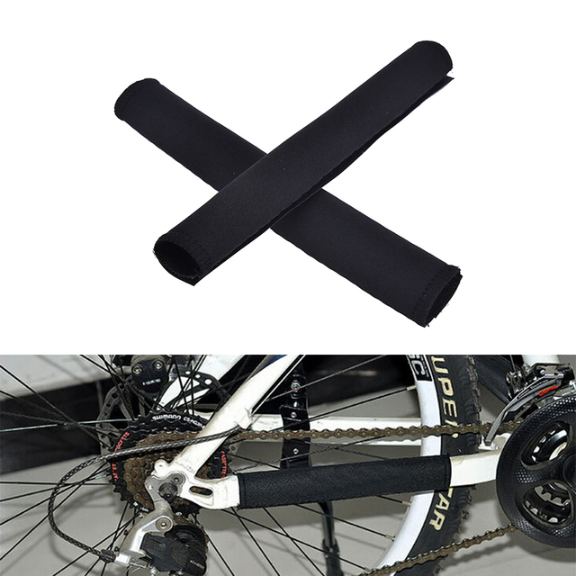Black Color 2pcs Bike Tube Wrap Bicycle Cycling Chain Stay Frame